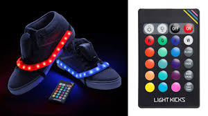 Remote Controlled Lights Remote Control Sneaker Lights Blind Your Friends With Awesomeness