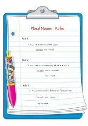 english teaching worksheets plural of nouns