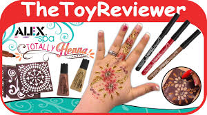 alex toys spa fun totally henna tattoo kit diy kids easy pens