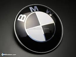 black and white bmw roundel bmw 45mm steering wheel emblem black white