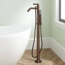 napier freestanding tub faucet and hand shower bathroom been applied to the faucet and hand shower to coordinate with other fixtures in your space the freestanding design includes a mounting plate to deliver