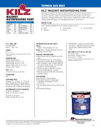 kilz masonry waterproofing paint kilz pdf catalogues