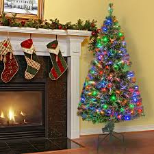 amazon com national tree 60 inch fiber optic evergreen tree with