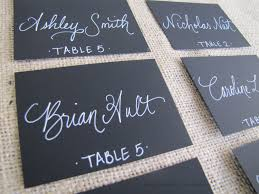 Table Name Cards by Wedding Black Name Place Cards Escort Cards Table Cards Chalk