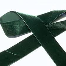 emerald green ribbon 1 5 inch wide emerald green velvet ribbon vintage velvet green