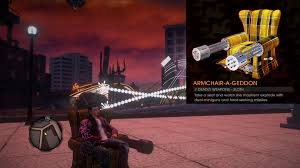 Seeking Hell Saints Row Gat Out Of Hell 7 Deadly Weapons Sloth Armchair