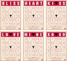 valentines bingo valentines crossword