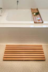 magnificent extra slim bamboo bath mat for eco u2013 friendly bathroom