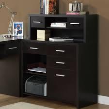 home office modern black furniture of lhaped corner computer desk