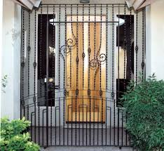 iron gates custom ornamental gates security wall gate fencing