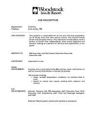 line cook job duties for resume culinary resume templates to