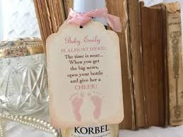 baby shower champagne tags baby mini wine bottle tags set