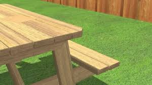Make Your Own Picnic Table Bench by How To Build A Picnic Table 13 Steps With Pictures Wikihow