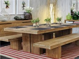 fresh design wood dining table with bench interesting wooden bench