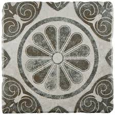 merola tile costa cendra decor daisy 7 3 4 in x 7 3 4 in ceramic