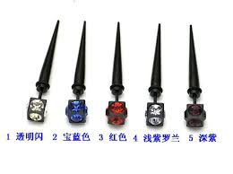earing for boys 6mm black square cone titanium stud boys stainless steel