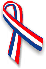 white and blue ribbon
