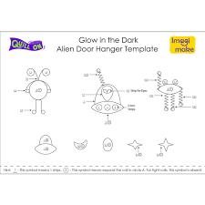 glow in the dark alien door hanger quill on