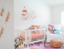 Colorful Aztec Rug A Colorful Coral Nursery For A Baby Inspired By This