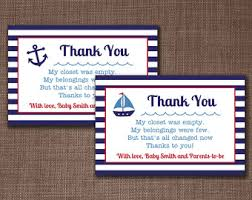 nautical thank you cards nautical thank you etsy