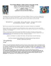 Words Of Comfort At Christmas Families U0026 Friends Of Murder Victims January 2014 Newsletter