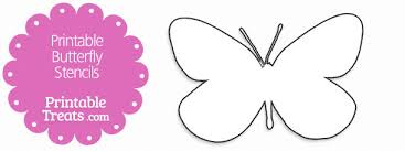 printable butterfly stencils printable treats com