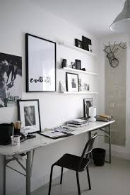 black n white decorating with color for home office designs in