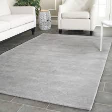 Solid Gray Area Rug by Safavieh Handmade Himalaya Solid Grey Wool Rug 8 U0027 X 10 U0027 Free