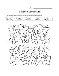 coloring pages gallery for u003e butterfly math adding worksheet