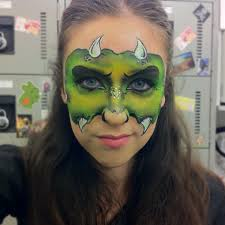 face paint idea face painting dinosaur reptile pinterest