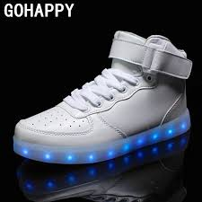 light up sole shoes 2016 women lights up led luminous shoes high top glowing casual