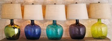 Colored Glass Table Lamps Table Lamps Distinguish Your Style Shades Of Light