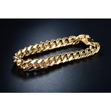 gold plated bracelet chain images Seviljewelry 18k gold plated 7 7mm cuban chain bracelet jpg