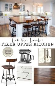 get the look fixer upper kitchen joanna gaines farmhouse
