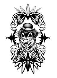 clown tattoo by rusred on deviantart
