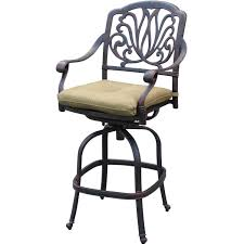 Darlee Patio by Darlee Elisabeth Cast Aluminum Patio Swivel Bar Stool Ultimate Patio
