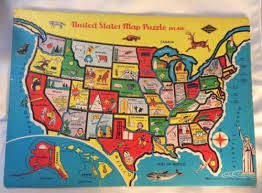 usa map puzzle for toddlers childrens us map puzzle vintage children s inlaid puzzle united