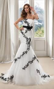 cheap trendy strapless long sash black mermaid wedding dress buy
