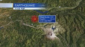 Portland Earthquake Map by Small Earthquake Hits Near Mt St Helens