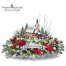 thomas kinkade lighted pictures thomas kinkade lighted musical christmas village table centerpiece