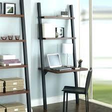 Trestle Computer Desk Leaning Bookshelf Computer Desk Corner With Shelves And Drawers