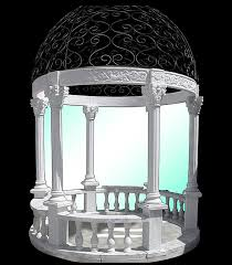 Home Outdoor Decor Marble Gazebo For Your Home Outdoor Decor In Black And White Color