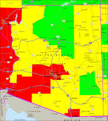 map of arizona air quality map