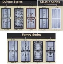 Residential Security Doors Exterior A Security Screen Door Doors