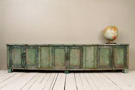 Low Console Table And Low Reclaimed Antique Sideboard Media Console Tv Stand