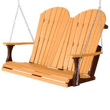 comfo back double porch swing z cedar on chocolate brown berlin