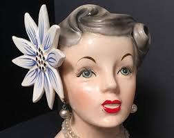 Napco Lady Head Vase Lady Head Vase Etsy