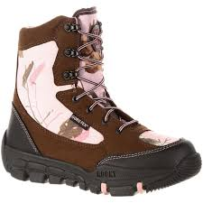 womens boots tex rocky s pink camo tex waterproof insulated boot