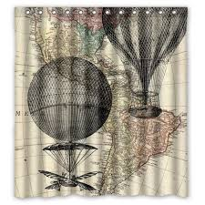Shabby Chic Balloon Curtains by Amazon Com Air Balloon Shower Curtain Air Balloon Bath