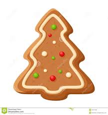 gingerbread tree vector christmas cookie stock vector image